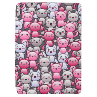 pattern with cute kawaii doodle cats 2 iPad air cover