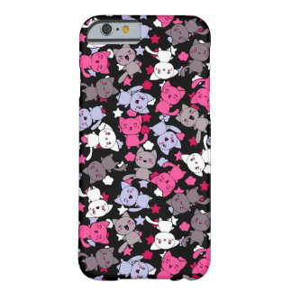pattern with cute kawaii doodle cats 3 barely there iPhone 6 case