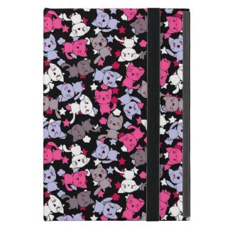 pattern with cute kawaii doodle cats 3 case for iPad mini