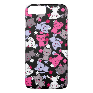 pattern with cute kawaii doodle cats 3 iPhone 8 plus/7 plus case