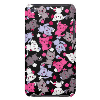 pattern with cute kawaii doodle cats 3 iPod touch covers
