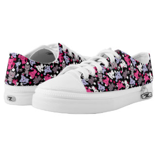 pattern with cute kawaii doodle cats 3 low tops