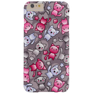 pattern with cute kawaii doodle cats barely there iPhone 6 plus case