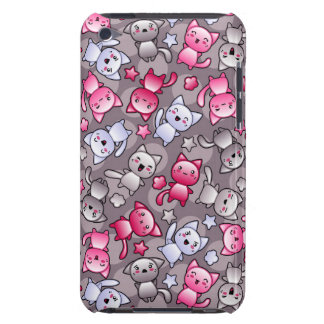 pattern with cute kawaii doodle cats barely there iPod case