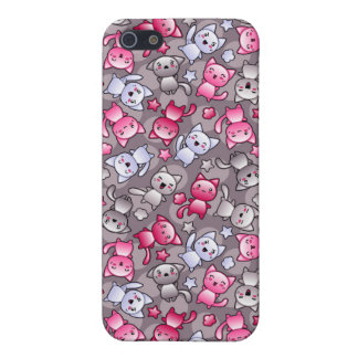 pattern with cute kawaii doodle cats iPhone 5 case