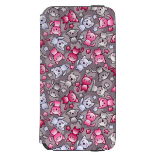 pattern with cute kawaii doodle cats incipio watson™ iPhone 6 wallet case