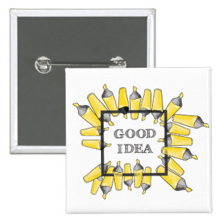 pattern with doodle sketch of yellow felt pen mark 15 cm square badge