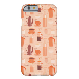 Pattern with drinks and text barely there iPhone 6 case