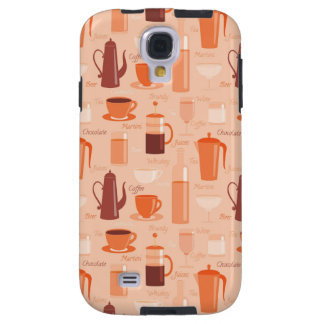 Pattern with drinks and text galaxy s4 case