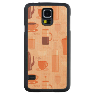 Pattern with drinks and text maple galaxy s5 slim case