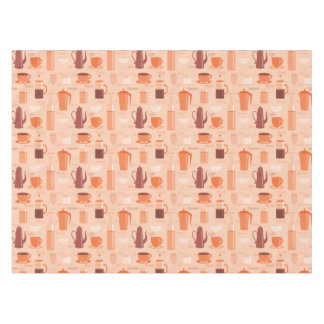 Pattern with drinks and text tablecloth