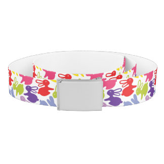 pattern with Easter rabbits Belt