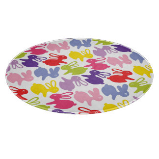 pattern with Easter rabbits Cutting Board