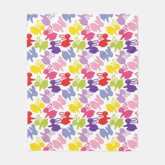 pattern with Easter rabbits Fleece Blanket