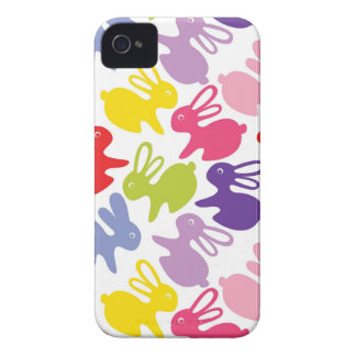 pattern with Easter rabbits iPhone 4 Case