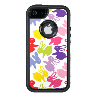 pattern with Easter rabbits OtterBox Defender iPhone Case