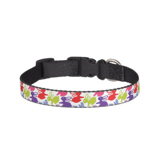 pattern with Easter rabbits Pet Collar