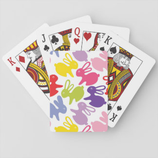 pattern with Easter rabbits Playing Cards