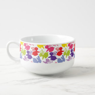 pattern with Easter rabbits Soup Mug