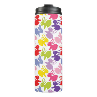 pattern with Easter rabbits Thermal Tumbler