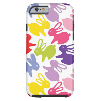 pattern with Easter rabbits Tough iPhone 6 Case
