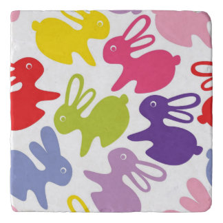 pattern with Easter rabbits Trivet
