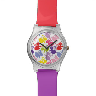 pattern with Easter rabbits Watch