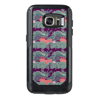 Pattern With Fish And Purple Wave OtterBox Samsung Galaxy S7 Case