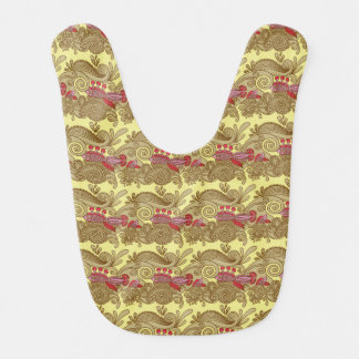 Pattern With Fish And Wave Bib