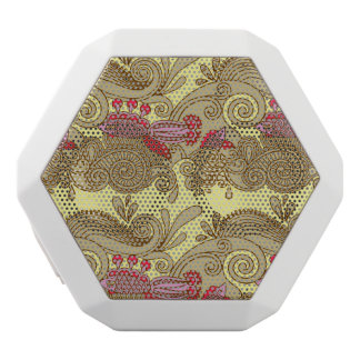 Pattern With Fish And Wave White Boombot Rex Bluetooth Speaker