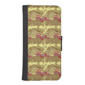 Pattern With Fish And Wave iPhone SE/5/5s Wallet Case
