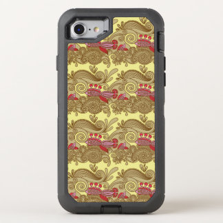 Pattern With Fish And Wave OtterBox Defender iPhone 8/7 Case