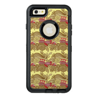 Pattern With Fish And Wave OtterBox Defender iPhone Case