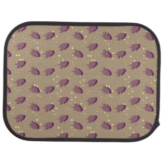 pattern with fish car mat