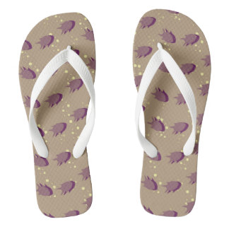 pattern with fish flip flops