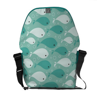 pattern with fish messenger bags