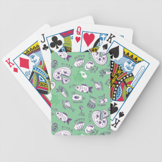 Pattern with Food Bicycle Playing Cards