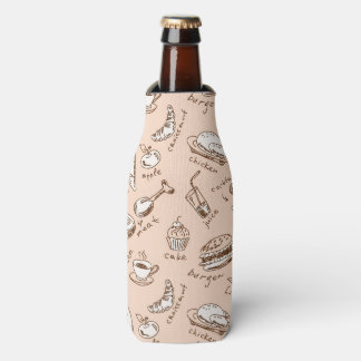 Pattern With Food Bottle Cooler