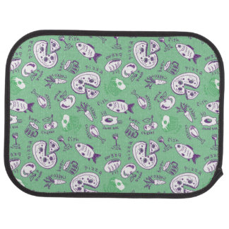 Pattern with Food Car Mat