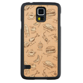 Pattern With Food Carved Maple Galaxy S5 Case