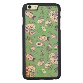 Pattern with Food Carved® Maple iPhone 6 Plus Case