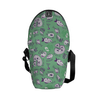 Pattern with Food Courier Bag
