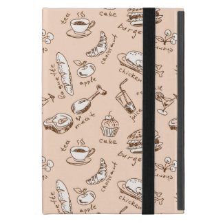 Pattern With Food Cover For iPad Mini