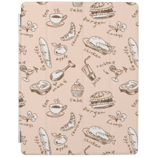 Pattern With Food iPad Cover