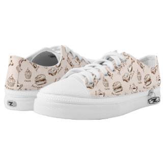 Pattern With Food Low Tops