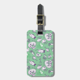 Pattern with Food Luggage Tag