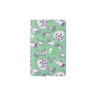 Pattern with Food Pocket Moleskine Notebook