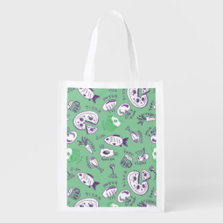 Pattern with Food Reusable Grocery Bag