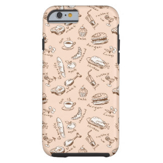 Pattern With Food Tough iPhone 6 Case