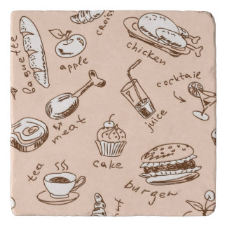 Pattern With Food Trivet